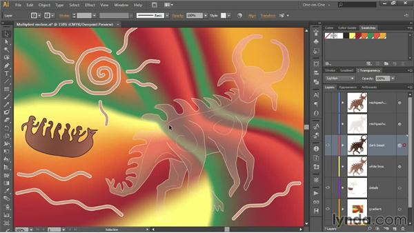Lighten, Screen, and Color Dodge: Illustrator CC 2013 One-on-One: Advanced