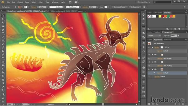 Isolating blending and Knockout Group: Illustrator CC 2013 One-on-One: Advanced