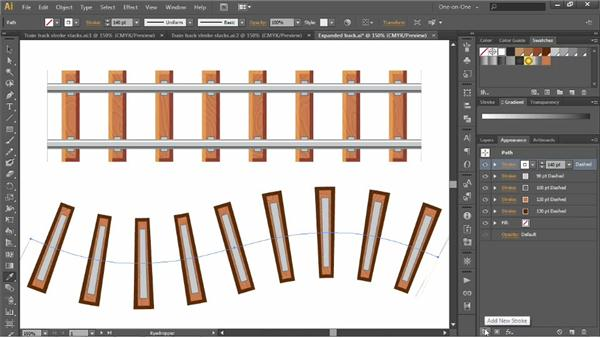 Simplifying a multistroke effect: Illustrator CC 2013 One-on-One: Advanced