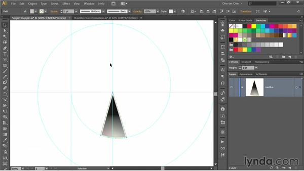 Repeating a series of transformations: Illustrator CC 2013 One-on-One: Advanced