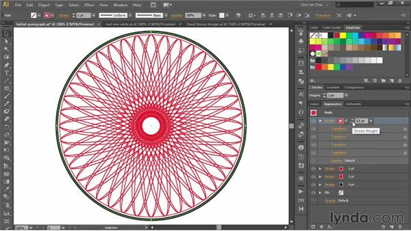 Creating an intricate Spirograph pattern: Illustrator CC 2013 One-on-One: Advanced