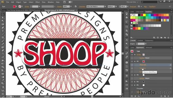 Creating a sculptural type effect: Illustrator CC 2013 One-on-One: Advanced