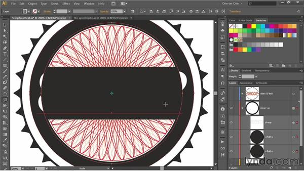 Subtracting editable text from a path: Illustrator CC 2013 One-on-One: Advanced
