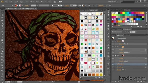Combining and saving graphic styles: Illustrator CC 2013 One-on-One: Advanced
