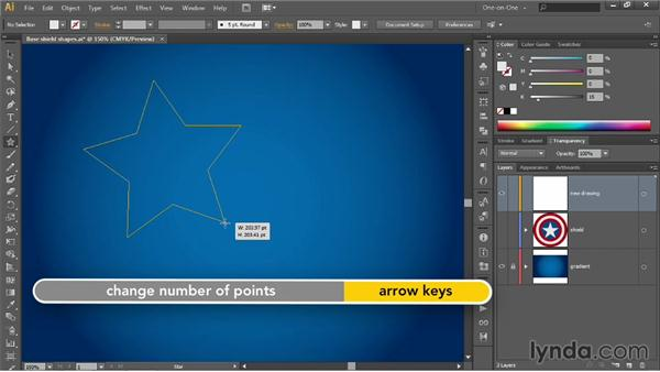 Creating a perfectly centered star shape: Illustrator CC 2013 One-on-One: Advanced