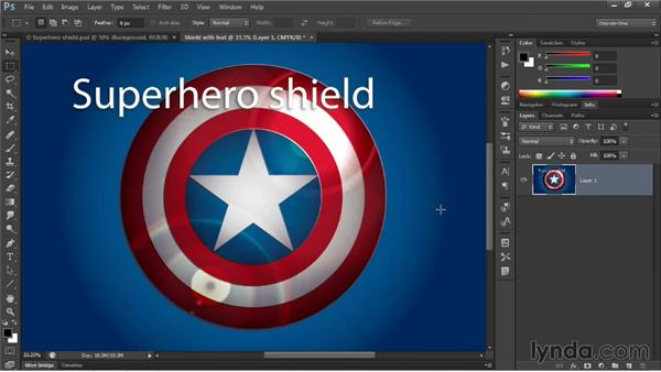 Two ways to rasterize vector art for Photoshop: Illustrator CC 2013 One-on-One: Advanced