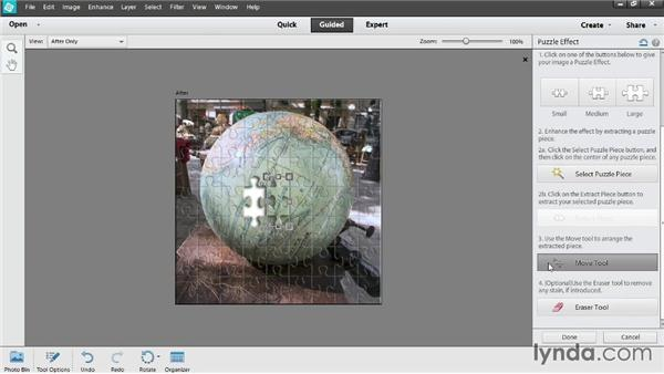 Stepping through a guided edit: Up and Running with Photoshop Elements 12