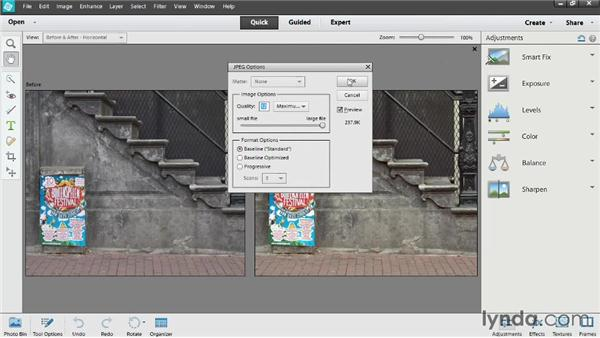 Auto-adjusting in Quick Edit: Up and Running with Photoshop Elements 12