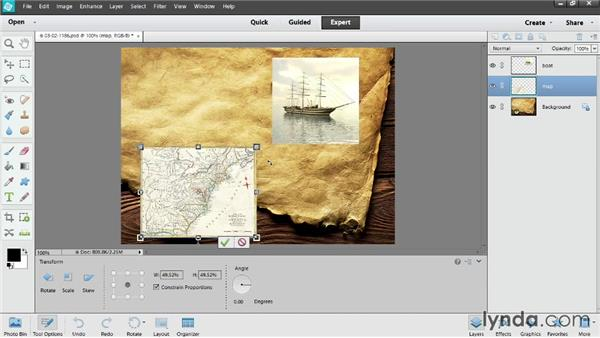 Introducing layers: Up and Running with Photoshop Elements 12