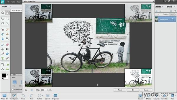 Fixing photos automatically with Auto Smart Tone: Up and Running with Photoshop Elements 12