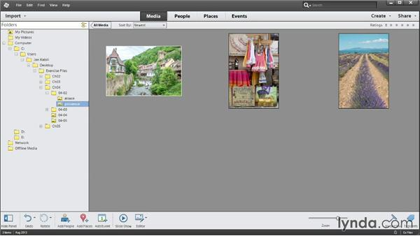 Working with folders and files: Up and Running with Photoshop Elements 12