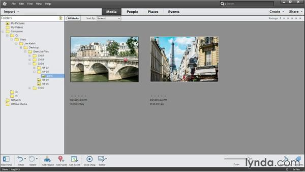 Fixing missing photos: Up and Running with Photoshop Elements 12