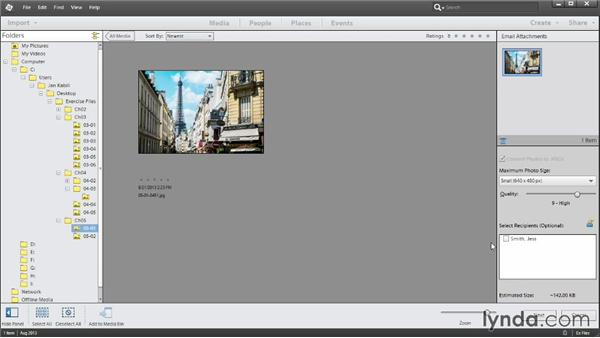 Sending photos by email: Up and Running with Photoshop Elements 12