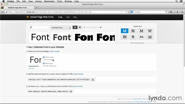 Browsing Adobe Edge Web Fonts: CSS: Advanced Typographic Techniques