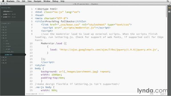 Using Modernizr to load scripts: CSS: Advanced Typographic Techniques