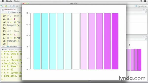 Solution: Creating color palettes in R: R Statistics Essential Training