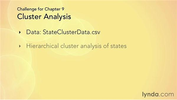Challenge: Creating a cluster analysis of states in the US: R Statistics Essential Training
