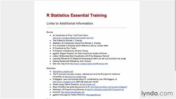 Next steps: R Statistics Essential Training