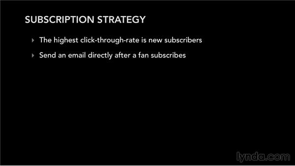 Subscription strategy: Mailing List Management for Musicians and Bands