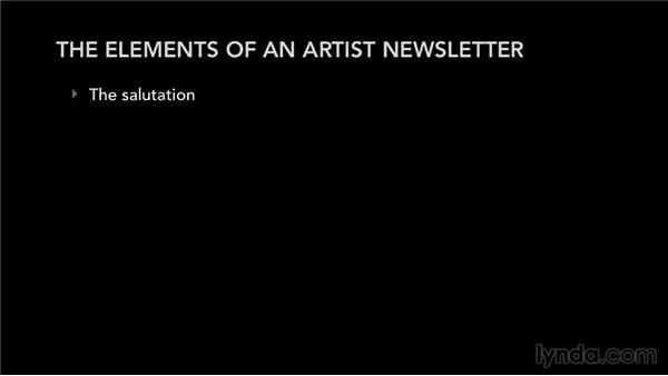 The elements of an artist newsletter: Mailing List Management for Musicians and Bands