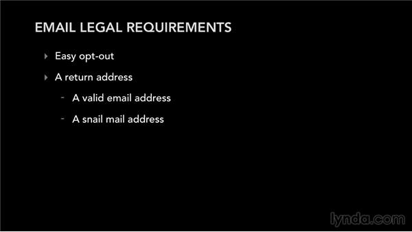 Email legal requirements: Mailing List Management for Musicians and Bands