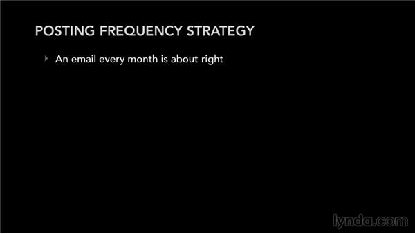 Posting frequency strategy: Mailing List Management for Musicians and Bands