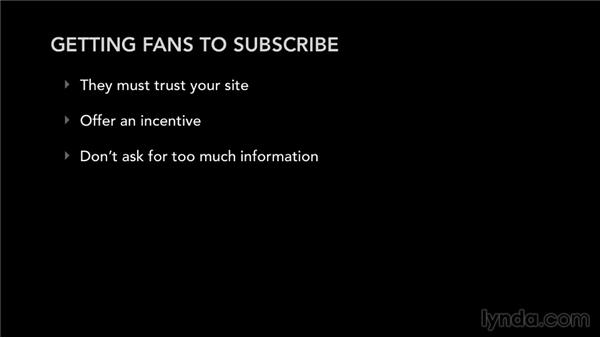 How to get fans to subscribe to your mailing list: Mailing List Management for Musicians and Bands