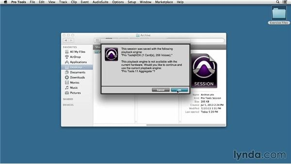 Using the exercise files: Pro Tools 11 Essential Training