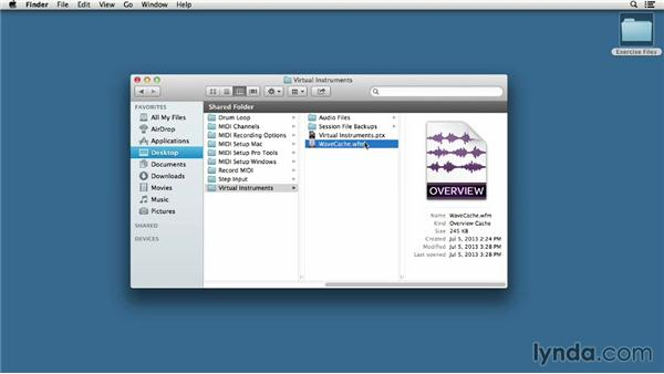 Identifying elements in the session folder: Pro Tools 11 Essential Training