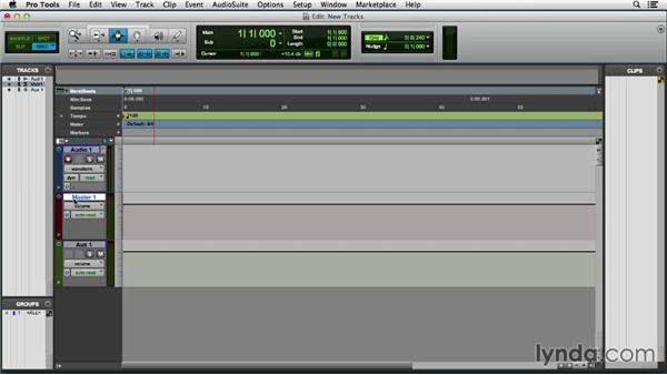 Creating new tracks: Pro Tools 11 Essential Training