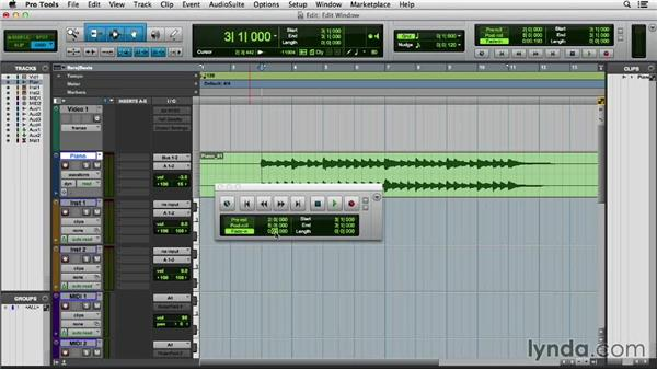 Using the Transport and Big Counter windows: Pro Tools 11 Essential Training