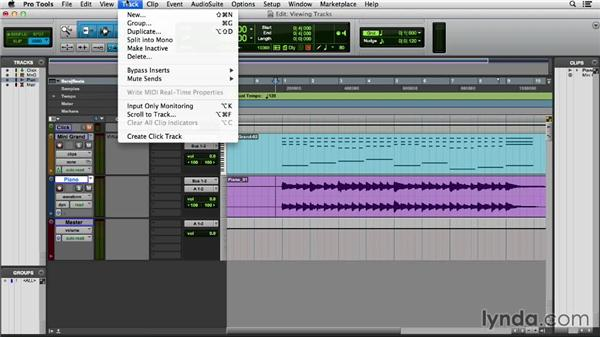 Viewing and manipulating tracks: Pro Tools 11 Essential Training