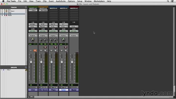 Selecting inputs, outputs, and busses: Pro Tools 11 Essential Training