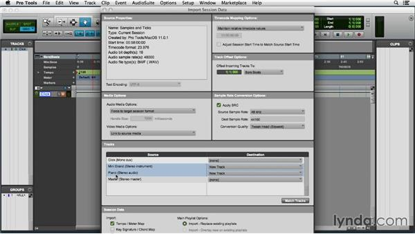 Importing session data: Pro Tools 11 Essential Training