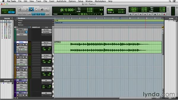 Using audio playback controls and scrolling: Pro Tools 11 Essential Training