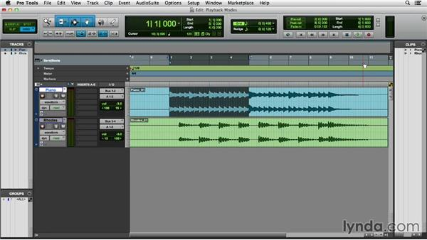 Working with playback modes and Dynamic Transport: Pro Tools 11 Essential Training