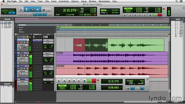 Overdubbing and record modes: Pro Tools 11 Essential Training