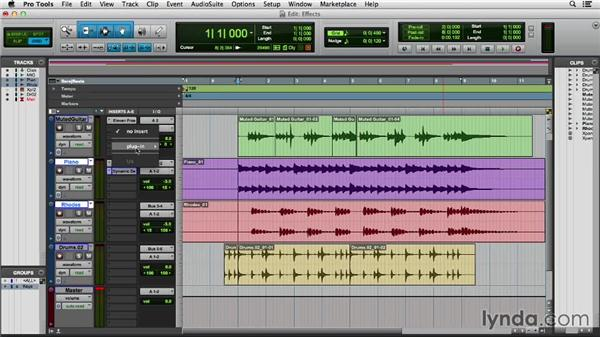Using effects while recording: Pro Tools 11 Essential Training
