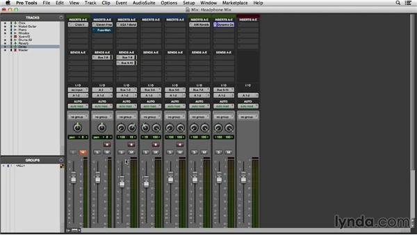 Creating a headphone mix: Pro Tools 11 Essential Training