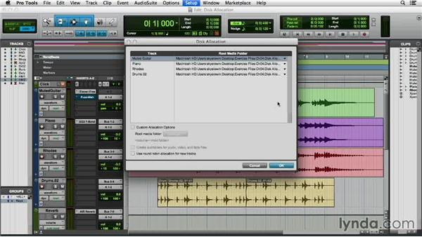 Assigning disk allocation: Pro Tools 11 Essential Training