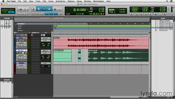 Understanding nondestructive editing with clips: Pro Tools 11 Essential Training