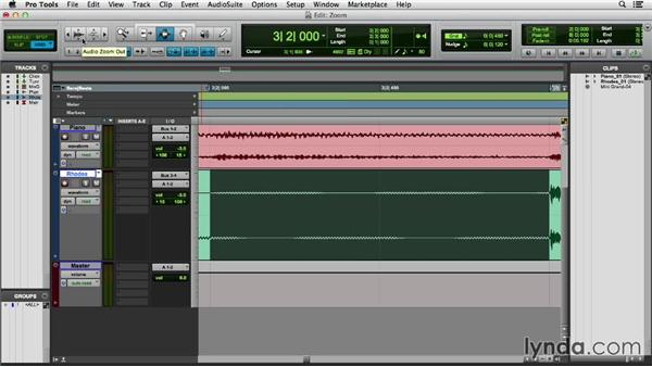Changing the view with the Zoomer tool and zoom presets: Pro Tools 11 Essential Training