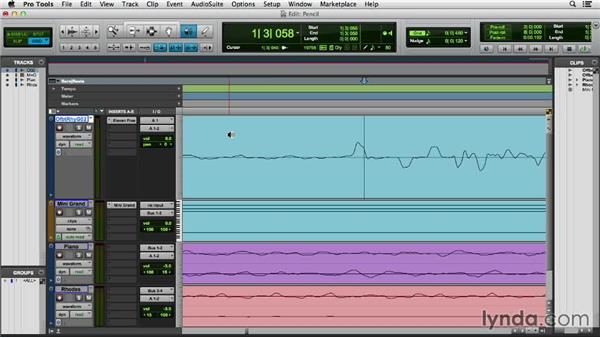 Editing with the Pencil tool: Pro Tools 11 Essential Training