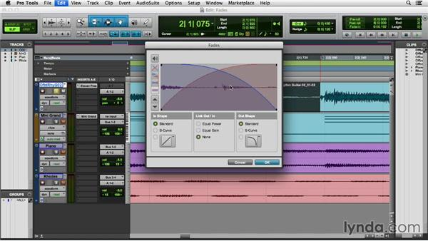 Applying fades and crossfades: Pro Tools 11 Essential Training