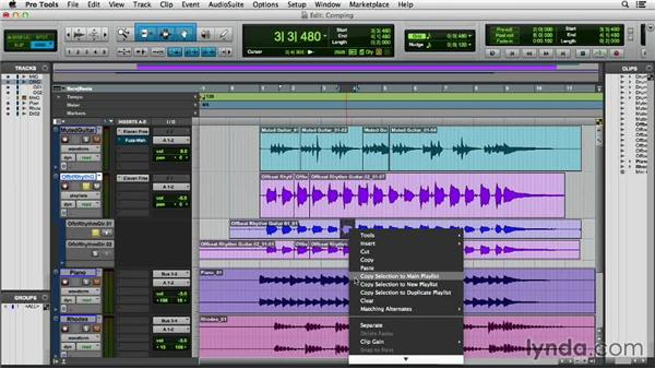 Building a comp track using playlists: Pro Tools 11 Essential Training