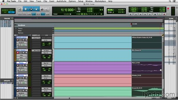 Creating an audio loop: Pro Tools 11 Essential Training
