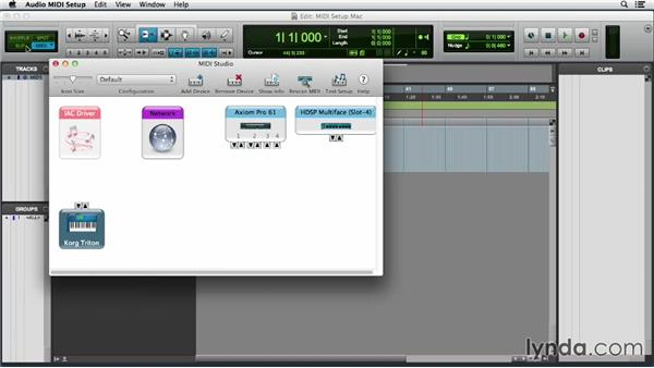 Setting up MIDI on a Mac: Pro Tools 11 Essential Training