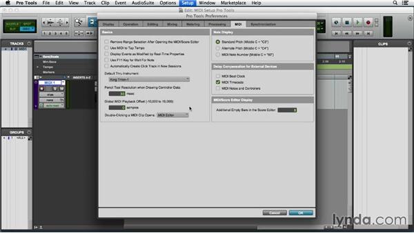 Configuring MIDI in Pro Tools: Pro Tools 11 Essential Training