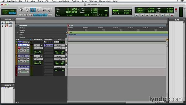 Recording MIDI data: Pro Tools 11 Essential Training