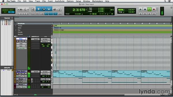 Using Step Input: Pro Tools 11 Essential Training